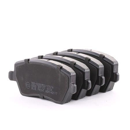 Brake Pad Set, disc brake ADN142117 BLUE PRINT Front Axle Width: 52,4mm, Thickness 1: 17,4mm