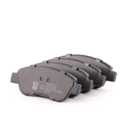 Disk brake pads BLUE PRINT 23959 Front Axle, excl. wear warning contact