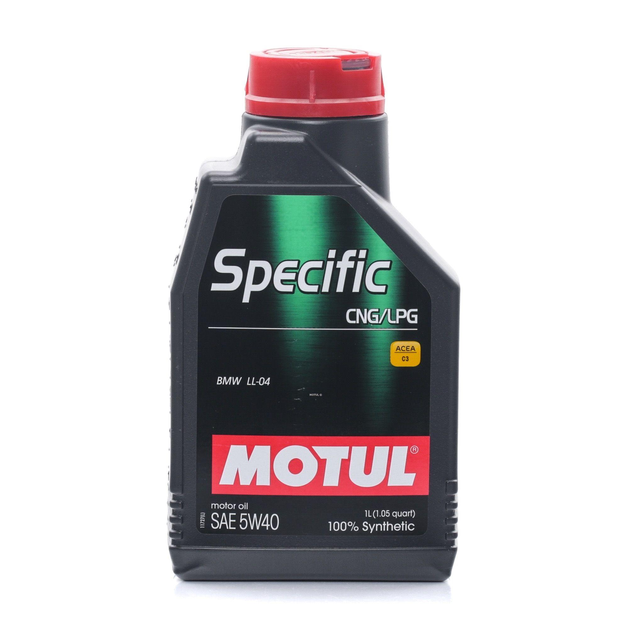 Olio motore MOTUL SPECIFICCNGLPG5W40 valutazione