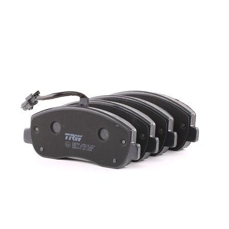 TRW COTEC Brzdové destičky RENAULT včetně uzavíracího výstražného kontaktu