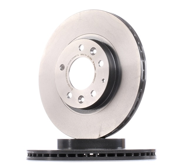 Brake discs and rotors BREMBO 7004839 Internally Vented, Coated, with screws
