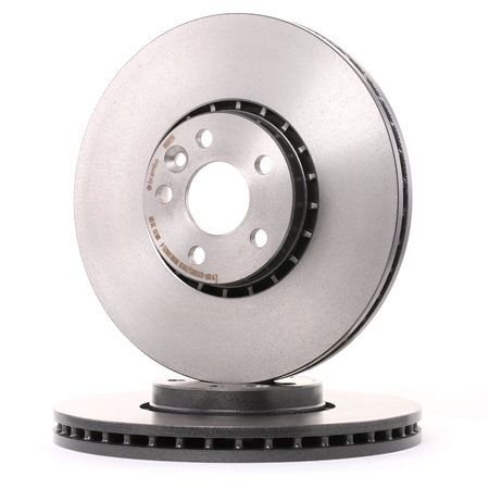 Brake discs and rotors BREMBO 7005636 Internally Vented, Coated, High-carbon, with screws