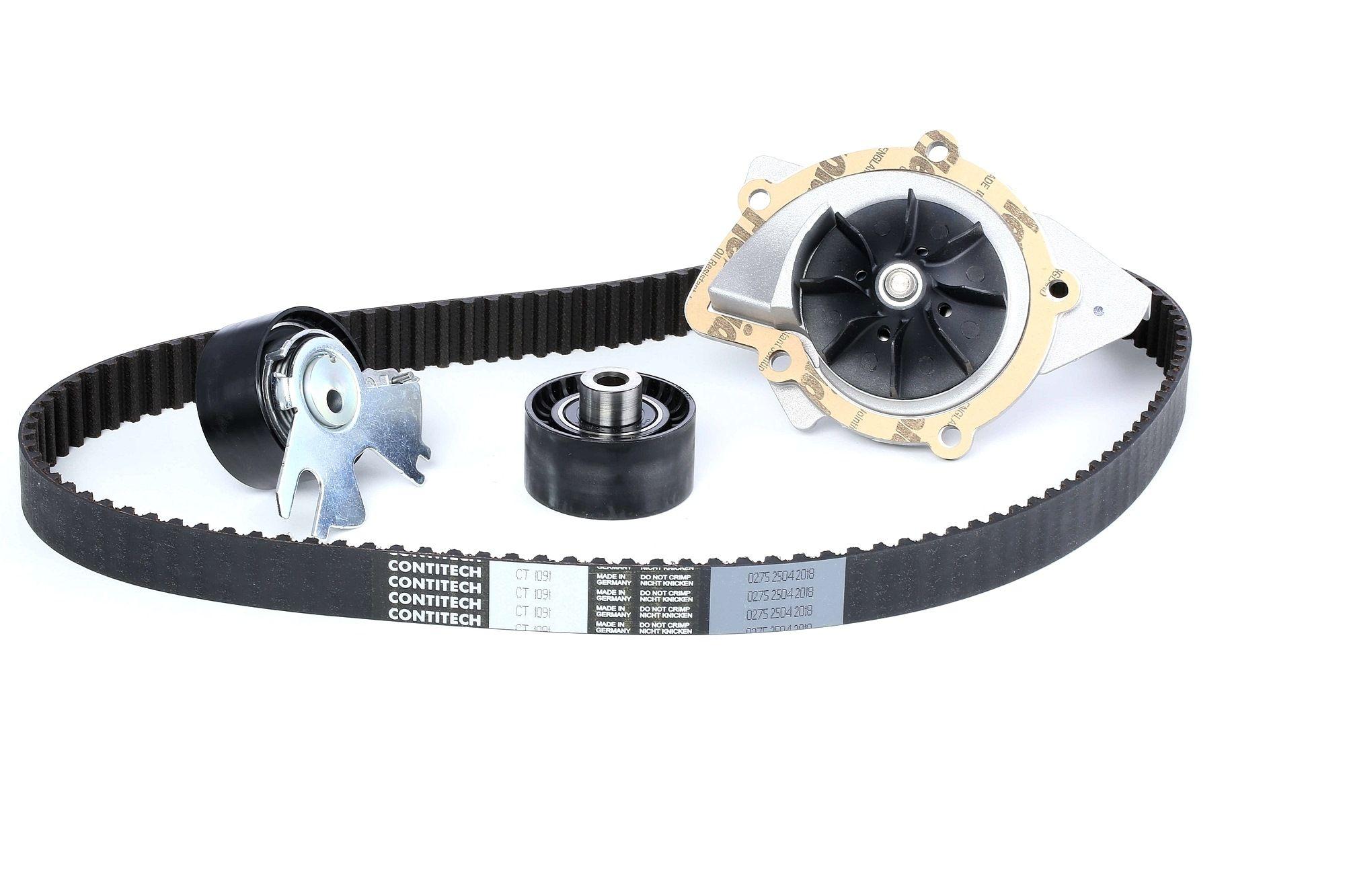 Water Pump + Timing Belt Kit CONTITECH CT1091K1 rating