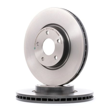Brake discs and rotors BREMBO 7013613 Internally Vented, Coated