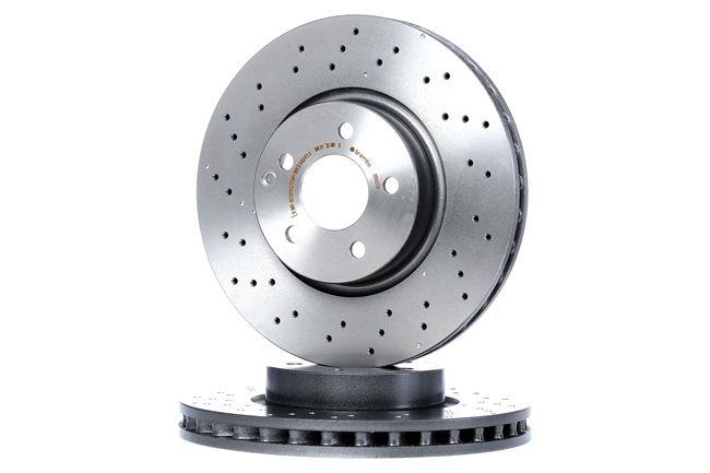 BREMBO COATED DISC LINE Frenos de disco MERCEDES-BENZ Perforado/ventil. int., revestido, altamente carbonizado, con tornillos
