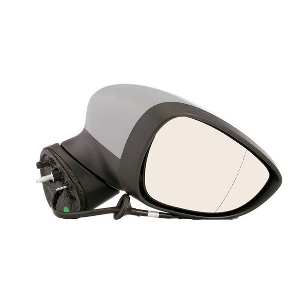 Offside wing mirror VAN WEZEL 7121075 Right, Aspherical, Complete Mirror, for electric mirror adjustment, Heatable, Primed