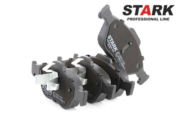 Disk brake pads STARK 7306513 Front Axle, excl. wear warning contact