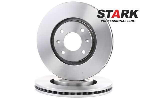 Brake discs and rotors STARK 7306544 Front Axle, Vented, without wheel hub, without wheel studs