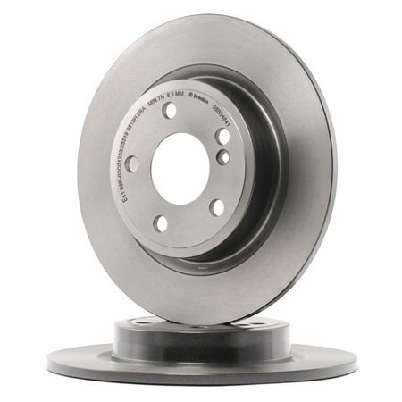 Brake discs and rotors BREMBO 7477658 Solid, Coated, High-carbon, with screws