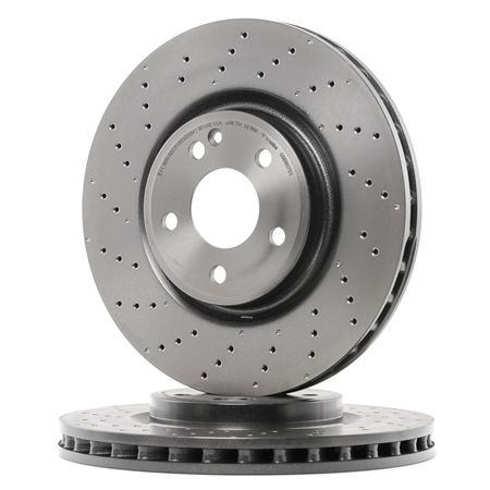 Brake discs and rotors BREMBO 7477750 Perforated / Vented, Coated, High-carbon, with screws