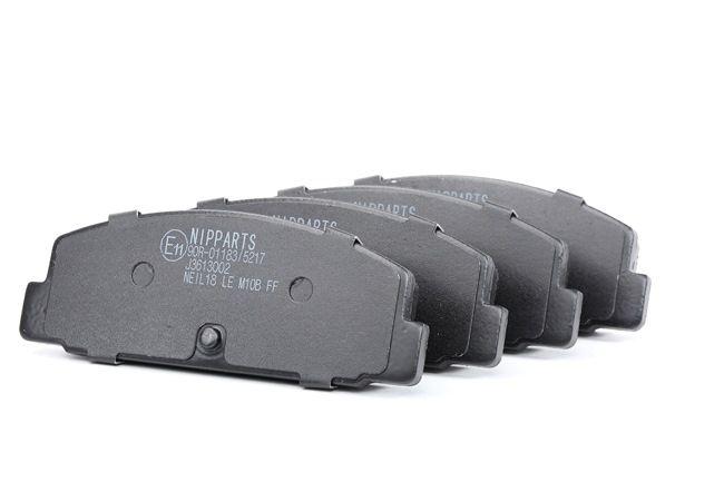 NIPPARTS Sada brzdových destiček, kotoučová brzda není určeno pro uzavírací výstražný ukazatel