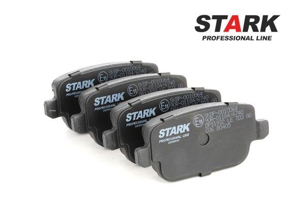 Bremseklosser STARK 7588763 bakaksel, ikke klargjort for slitasjeindikator, med antihyle blikk