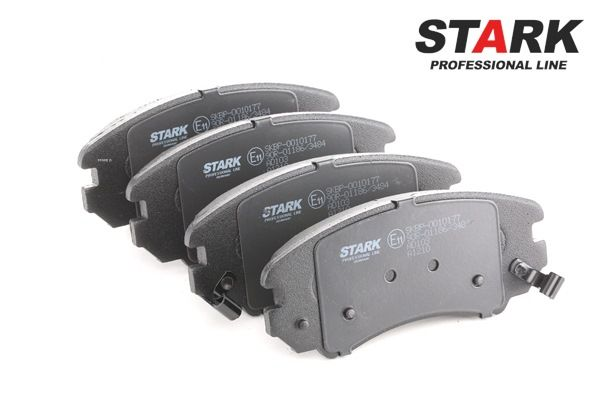 Disk brake pads STARK 7588867 Front Axle, with acoustic wear warning