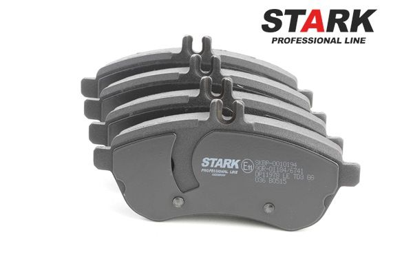 STARK Brake Pad Set, disc brake Front Axle, prepared for wear indicator
