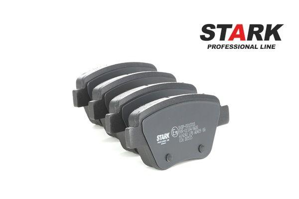 Bremsbelagsatz, Scheibenbremse Höhe: 53.6mm, Dicke/Stärke: 17.7mm mit OEM-Nummer 8P0 098 601 P