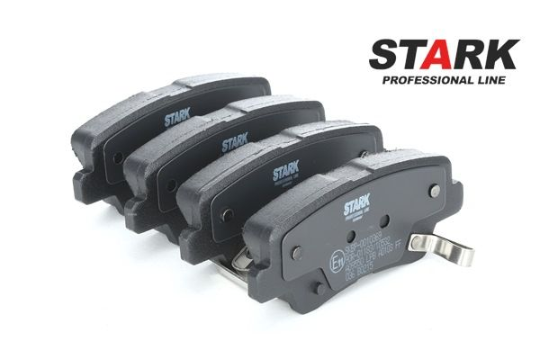 Disk brake pads STARK 7589046 Rear Axle, with acoustic wear warning