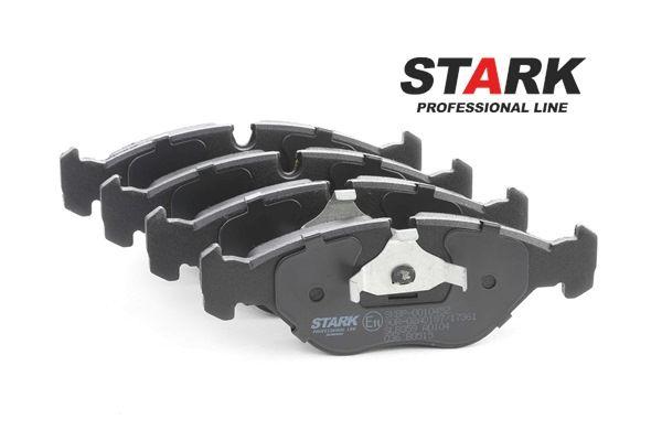 Kit pasticche freni STARK 7589119 Assale anteriore, Predisposto per contatto segnalazione usura, con clip pistone