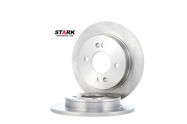 Frenos de disco STARK 7607002 Eje trasero, Macizo, sin buje de rueda, sin perno de sujeción de rueda
