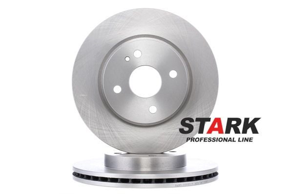 Brake discs and rotors STARK 7607183 Front Axle, Vented, Uncoated