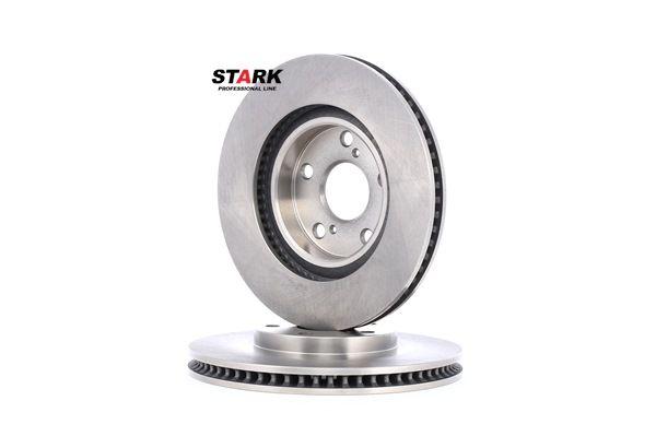 Frenos de disco STARK 7607199 Eje delantero, Ventilación interna, sin buje de rueda, sin perno de sujeción de rueda
