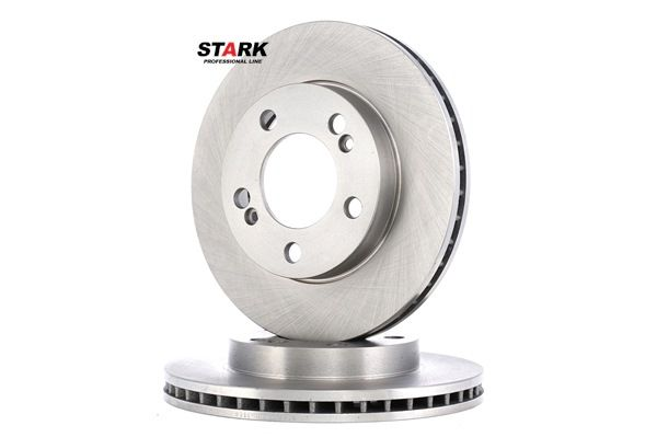 STARK Brake discs and rotors SSANGYONG Front Axle, Internally Vented, without wheel hub, without wheel studs