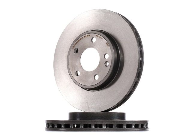 Brake discs and rotors BREMBO 7611787 Internally Vented, Coated, High-carbon, with screws