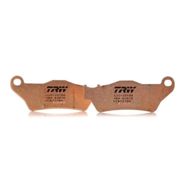 OEM Bremsbelagsatz, Scheibenbremse TRW MCB707SH