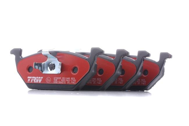 Bremsbelagsatz, Scheibenbremse Höhe: 54,7mm, Dicke/Stärke: 19,8mm mit OEM-Nummer 6C0 698 151A
