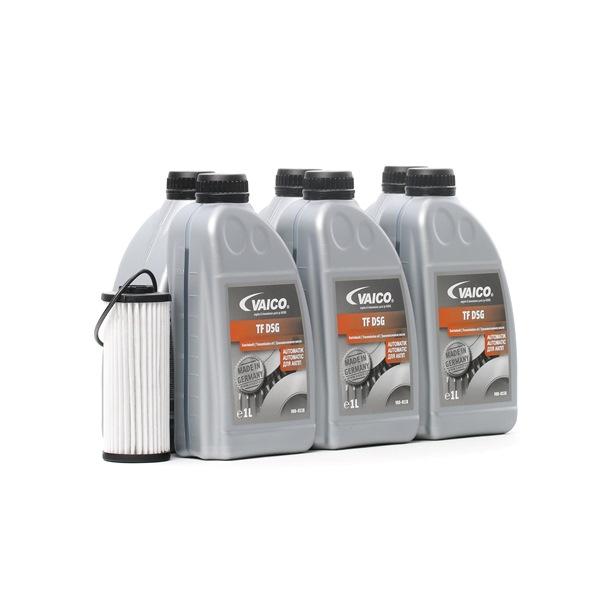 VAICO Filtro de transmisión automática SEAT 6L, DSG, DQ400E, 0DL, 0DD, 02G, DQ500, con junta, Con cant. de aceite para cambio de aceite estándar, con junta anular