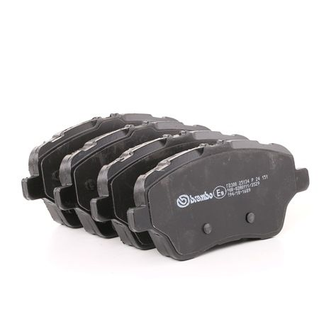 Disk brake pads BREMBO D17308954 excl. wear warning contact, with brake caliper screws, with accessories