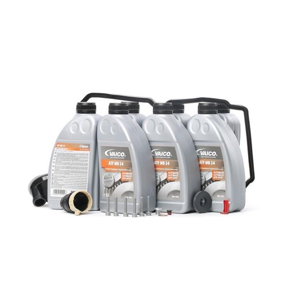 Schaltgetriebe VAICO Teilesatz, Ölwechsel-Automatikgetriebe 7l, für Fahrzeuge mit Wandlerablassschraube, 722,6, W5A 330, W5A 380, W5A 580, W5A 900, mit Dichtung, mit Dichtring, mit Ölmenge für Standardölwechsel
