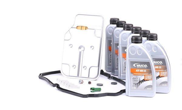 VAICO Teilesatz, Ölwechsel-Automatikgetriebe 7l, 722,9, 7G-Tronic Plus, K7C 1000, K7X 1000, W7B 700, W7C 1000, W7C 700, W7N 700, W7X 700, mit Dichtung, mit Dichtring, mit Ölmenge für Standardölwechsel