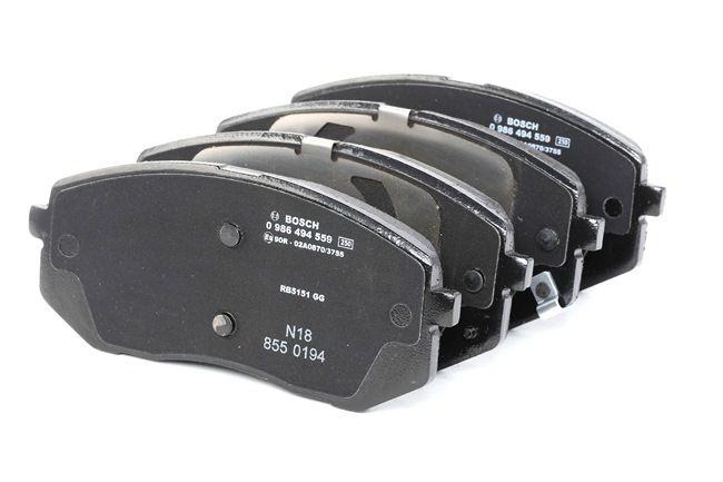 OEM Kit de plaquettes de frein, frein à disque BOSCH 0986494559