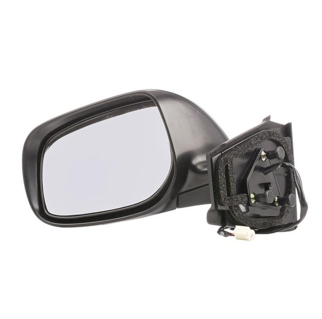 Offside wing mirror VAN WEZEL 7627816 Left, Complete Mirror, Convex, for electric mirror adjustment, Primed