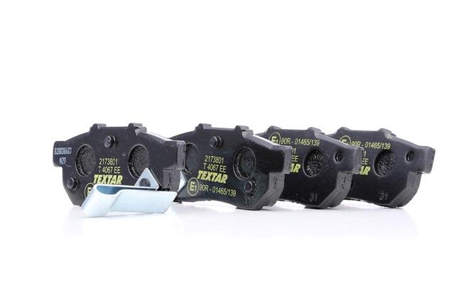 OEM Brake Pad Set, disc brake TEXTAR 7443D564 for HONDA