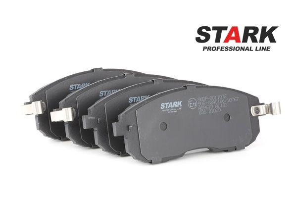 Juego de pastillas de freno STARK 7705084 Eje delantero, con avisador acústico de desgaste, Front
