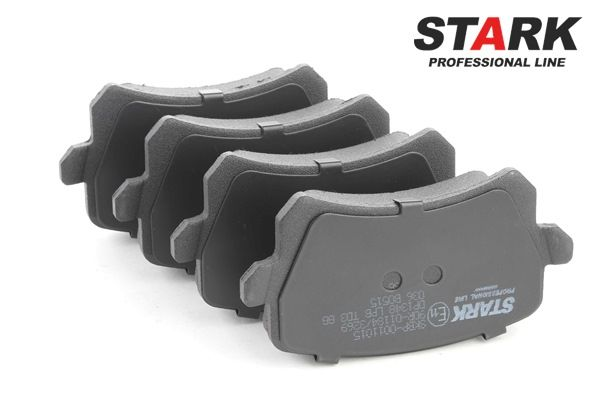 Bremsbelagsatz, Scheibenbremse Breite: 105,2mm, Höhe: 56,4mm, Dicke/Stärke: 16,9mm mit OEM-Nummer 8E0 698 451M