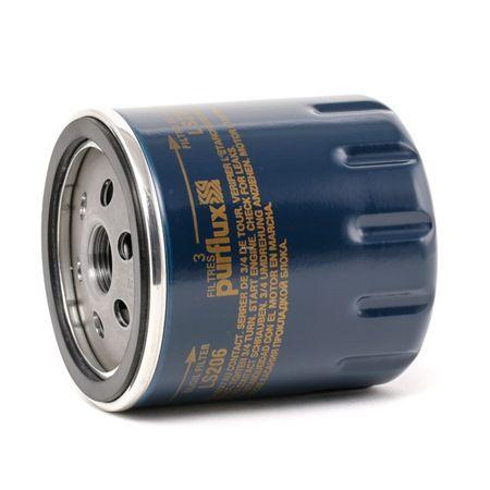Filtro de aceite LS206 PURFLUX Filtro enroscable Ø: 76mm, Altura: 85mm