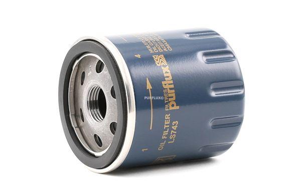 Filtro de aceite LS743 PURFLUX Filtro enroscable Ø: 66mm, Altura: 76mm