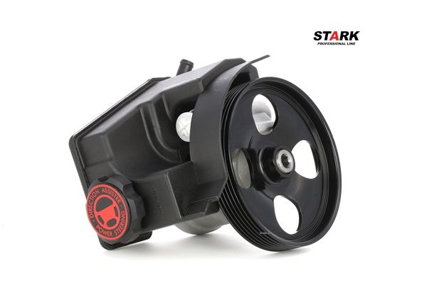 STARK Steering pump PEUGEOT Hydraulic, Number of ribs: 6, Belt Pulley Ø: 137mm, with reservoir