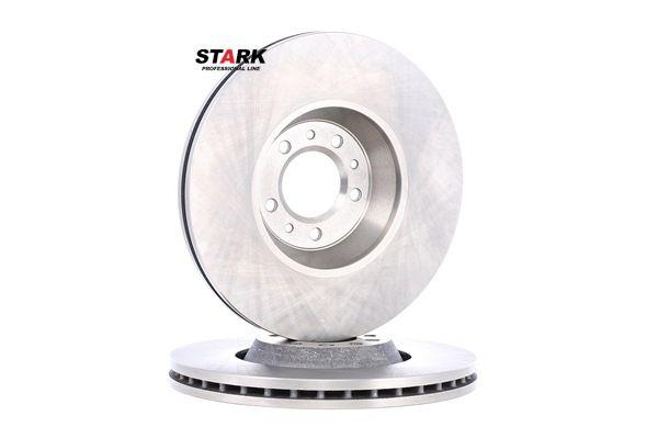 Frenos de disco STARK 7866550 Eje delantero, ventilación externa, sin buje de rueda, sin perno de sujeción de rueda