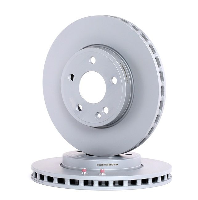Brake discs and rotors ATE 428276 Vented, Coated, Alloyed / High-carbon, with screws
