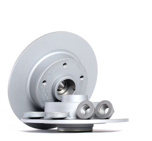 ATE Bremsscheibe Voll, beschichtet, mit Lager, mit ABS-Sensorring