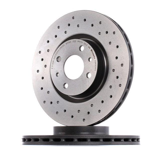 BREMBO XTRA LINE Freni a disco perforato / autoventilato, rivestito, ad alto tenore di carbonio, con bulloni/viti