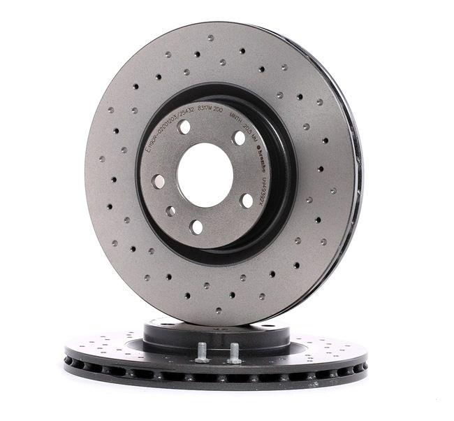 BREMBO XTRA LINE Kit dischi freno ALFA ROMEO perforato / autoventilato, rivestito, ad alto tenore di carbonio, con bulloni/viti