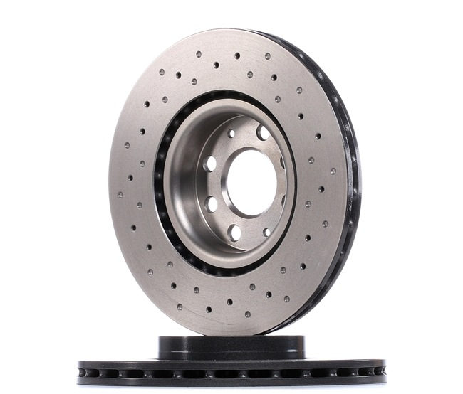 BREMBO XTRA LINE Комплект спирачни дискове OPEL надупчен/ вътр. вентилиран, с покритие, високовъглеродна, с винтове