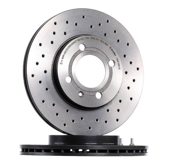 Bremsscheibe Bremsscheibendicke: 20mm, Lochanzahl: 4, Ø: 256mm mit OEM-Nummer 6NO 615 301 D