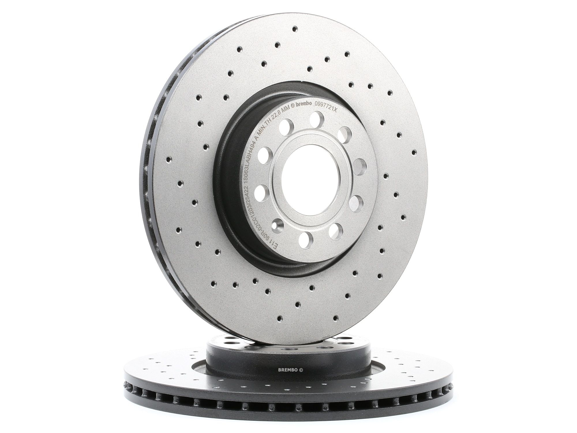 BREMBO XTRA LINE 09.9772.1X Brake Disc Brake Disc Thickness: 25mm, Num. of holes: 5, Ø: 312mm
