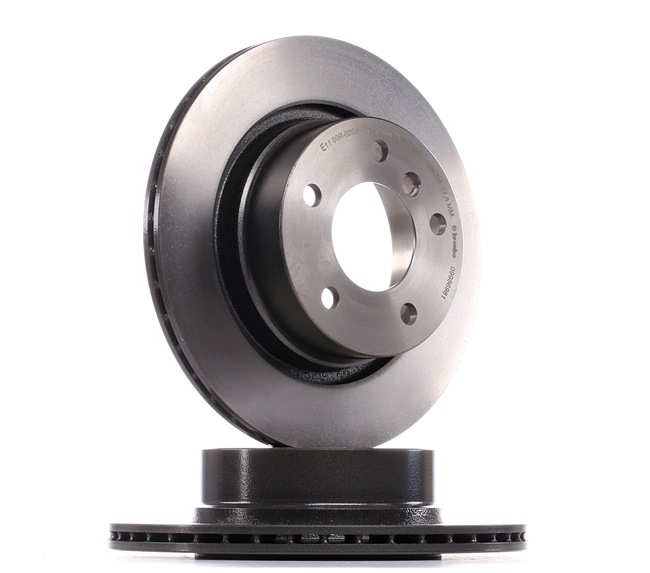 BREMBO COATED DISC LINE Brake rotors BMW Internally Vented, Coated, High-carbon, with screws
