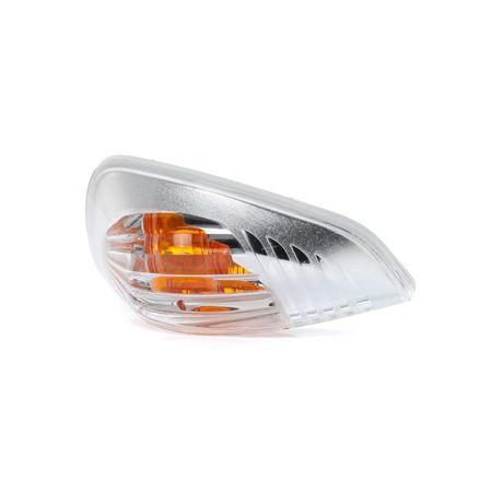 TYC Außenspiegel, links, ohne Lampenträger, weiß 32501523